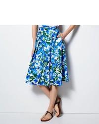 Milly for designation floral pleated midi skirt medium 216228