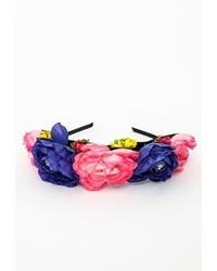Missguided Statet Flower Crown Headband Pink