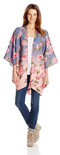 Billabong Juniors Secret Dreamer Floral Kimono Cardigan Blouse ...