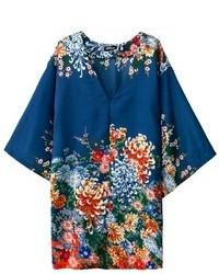 ChicNova V Neckline Floral Print Kimono