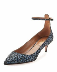 Kisha 45mm floral print napa pump blue dandelion medium 3697355