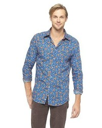 Bsny Floral Button Down Blue Floral
