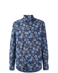Floral print button up shirt medium 7162207