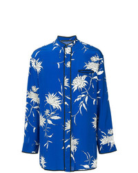 Haider Ackermann Floral Print Piped Shirt