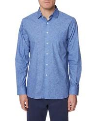Hickey Freeman Metropolitan Floral Button Up Shirt