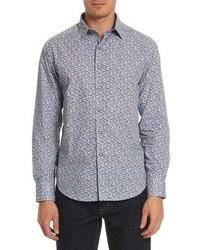 Oakes classic fit floral sport shirt medium 8679204