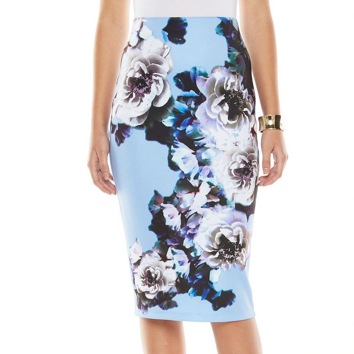 Apt. 9 Midi Scuba Pencil Skirt | Where to buy & how to wear