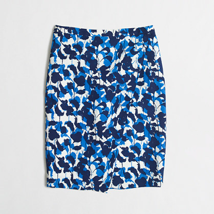 7c773e456f ... Mini Skirts J.Crew Factory Factory Crepe Wrap Pencil Skirt In Abstract  Floral
