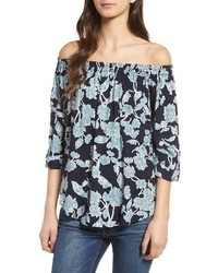 Splendid Floral Off The Shoulder Blouse