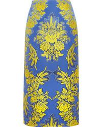 Gucci Floral Jacquard Midi Skirt