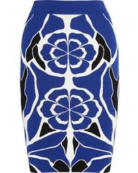 Alexander McQueen Floral Jacquard Pencil Skirt
