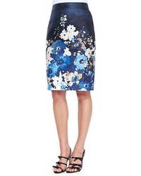 Kate Spade New York Autumn Floral Maritime Pencil Skirt