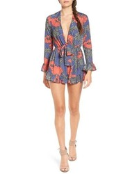 Tularosa Bishop Floral Print Long Sleeve Romper
