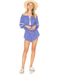 Faithfull The Brand Ibiza Playsuit In Blue