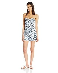 Lucca Couture Strapless Floral Print Bermuda Romper
