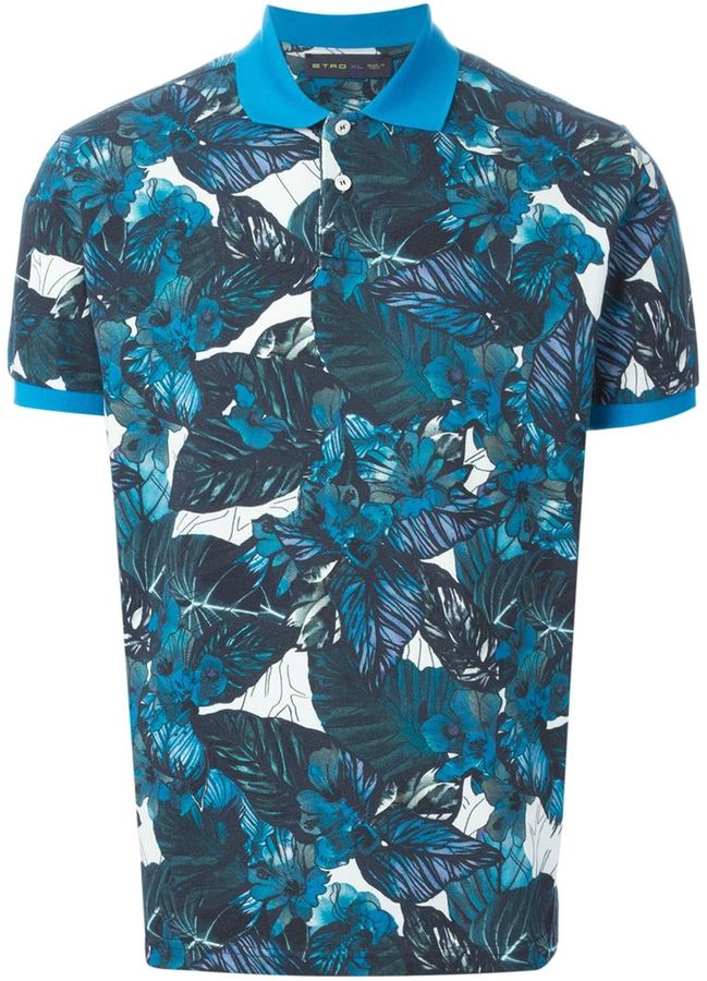 polo shirt - Blue Etro Marketable Best Online Pay With Visa Cheap Online aHFlxyujRS