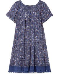 Tory Burch Wild Pansy Med Poplin Mini Dress