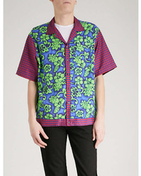 DSQUARED2 Floral And Gingham Print Woven Shirt