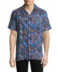 Etro Floral And Paisley Linen Button Down Shirt