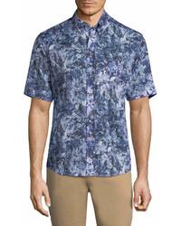Eton Floral Short Sleeve Sport Shirt