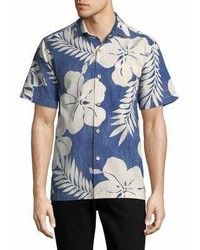 Tommy Bahama Hialeah Hibiscus Floral Short Sleeve Button Down