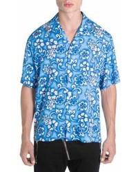 DSQUARED2 Main Hawaiian Floral Print Shirt