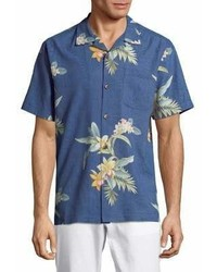 Tommy Bahama Open Water Blooms Silk Shirt