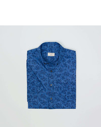 Club Monaco Short Sleeve Dyed Floral Shirt