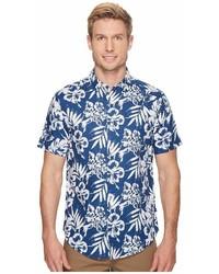 Nautica Short Sleeve Floral Print Linen Shirt