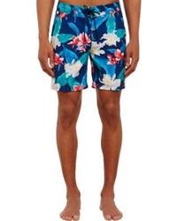 Sundek Floral Print Board Shorts Blue