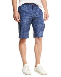 Kiton Floral Print Cargo Shorts