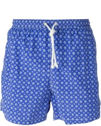 Kiton Floral Print Swim Shorts