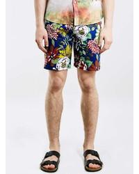 Topman Oxford Lads Blue Floral Shorts