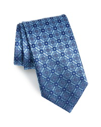 Canali Floral Geometric Silk Tie