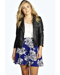 Boohoo plus lexi floral skater skirt medium 211766