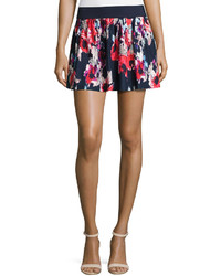Kate Spade New York Floral Print Pleated Coverup Skirt Blue
