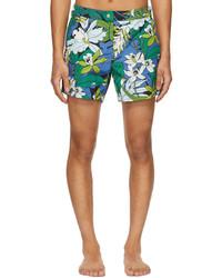 Tom Ford Blue Green Tropical Print Swim Shorts