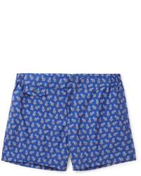 Incotex Short Length Floral Print Swim Shorts