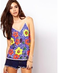 Asos Cami With Floral Embellisht