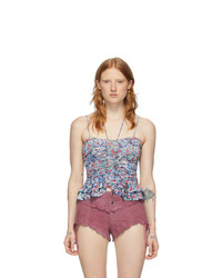 Isabel Marant Blue And Multicolor Salsa Tank Top