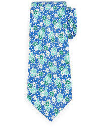 Floral print silk cotton tie medium 3648459