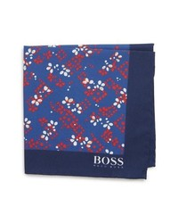 BOSS Floral Cotton Wool Pocket Square