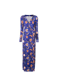 Dvf Diane Von Furstenberg Floral Evening Wrap Dress