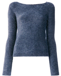 Twin-Set Fuzzy Crew Neck Jumper