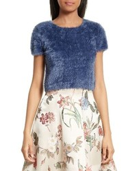 Alice + Olivia Ciara Crop Eyelash Sweater