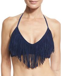 Vince Camuto Fringe Bikini Swim Top