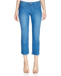Sanctuary Marianne Frayed Cropped Flare Jeans In Olympus Wash