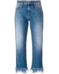 MSGM Frayed Hem Jeans