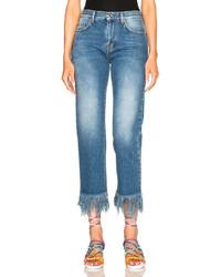MSGM Frayed Jeans