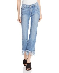Pistola Tallis Comfort Crop Flare Jeans In Aquarius Fray